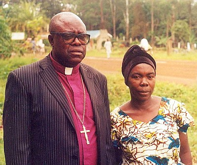 Bishop Kabonabe and his wife