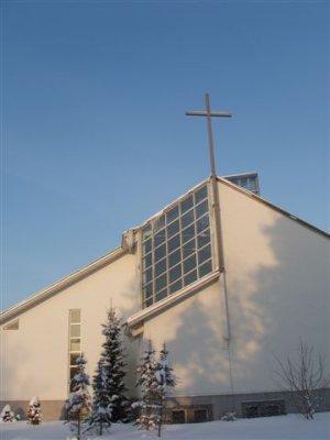 Talvine vaade Harkujärve kirikule