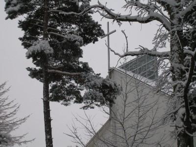 Harkujärve kirik talvel