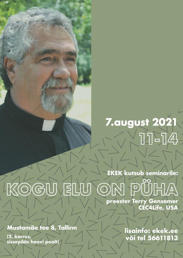 Elu pühaduse seminar Tallinnas 6. augustil